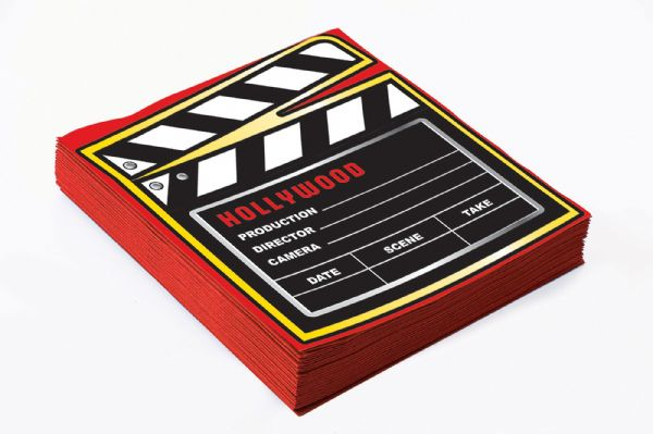 At the Movies Décor Napkin 13'' (16pcs) Hollywood Famous Star Film Decoration